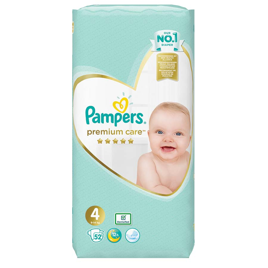 Pampers Premium Care Νο4 (9-14kg.) Jumbo Pack 52τεμ., 1+1 Δώρο
