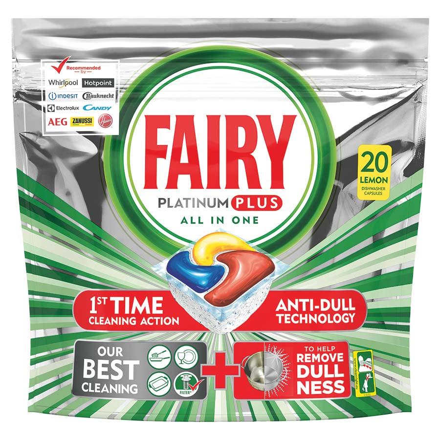 Fairy Caps Platinum Plus Λεμόνι 20τεμ., 1+1 Δώρο
