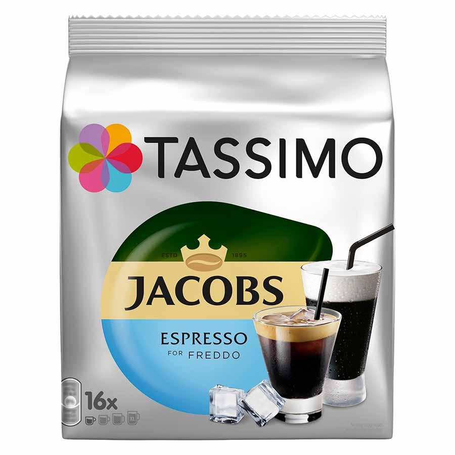 Tassimo Jacobs Καφές Espresso Freddo Κάψουλες 16τεμ.