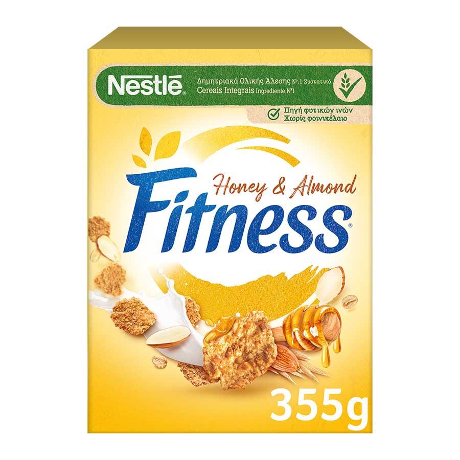 Nestle Fitness Δημητριακά Με Μέλι & Αμύγδαλα 355γρ.