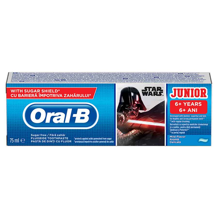 Oral-B Οδοντόκρεμα Παιδική 6+ Χρονών Star Wars 75ml.