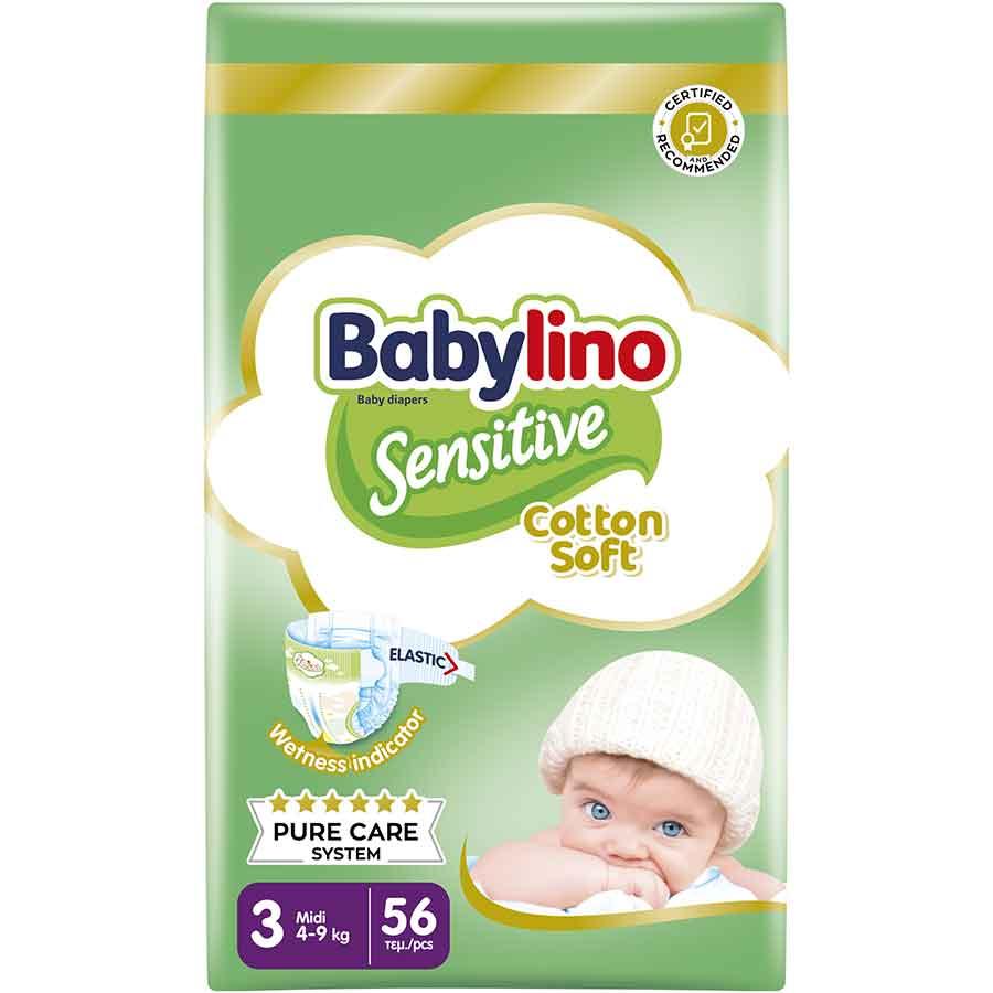 Babylino Sensitive Πάνες No3 Value Pack 4-9kg. 56τεμ.