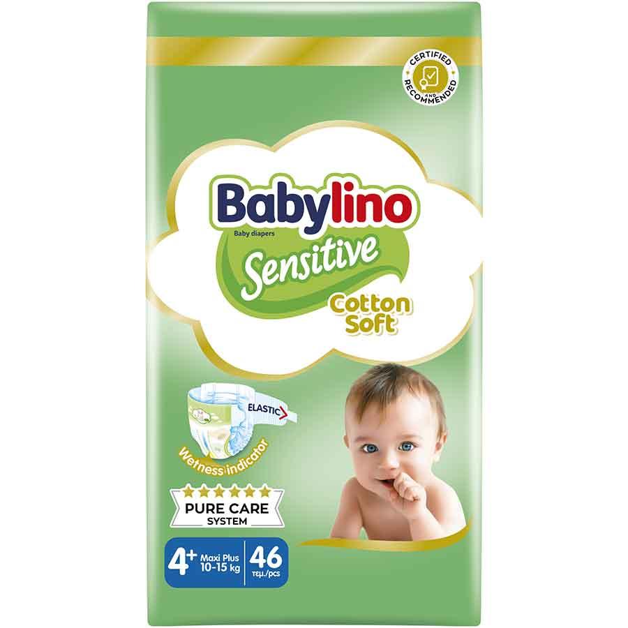 Babylino Sensitive Πάνες No4+ Value Pack 10-15kg. 46τεμ.