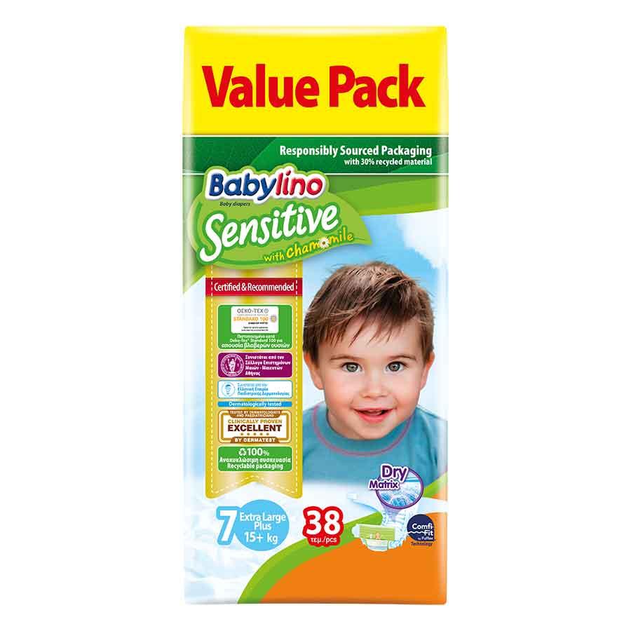 Babylino Sensitive Πάνες Value Pack Νo7 +17kg. 38τεμ.
