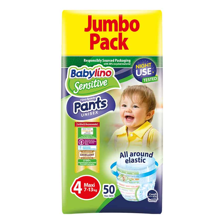Babylino Πάνες-Pants Jumbo Pack Unisex No4 7-13kg. 50τεμ.