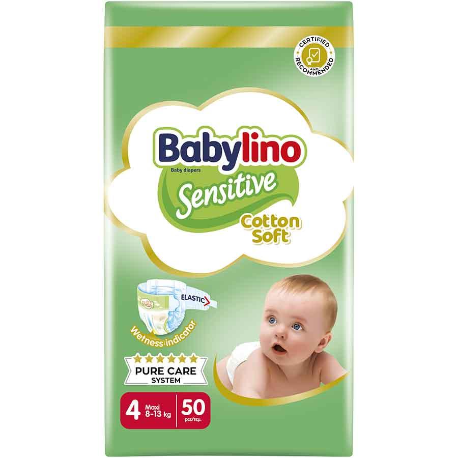 Babylino Sensitive Πάνες No4 Value Pack 8-13kg. 50τεμ.