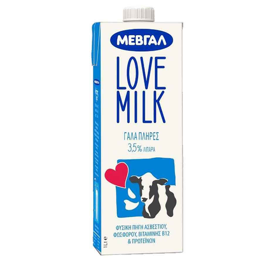 Μεβγάλ Love Milk Γάλα Υψηλής Παστερίωσης 3,5% 1lt.