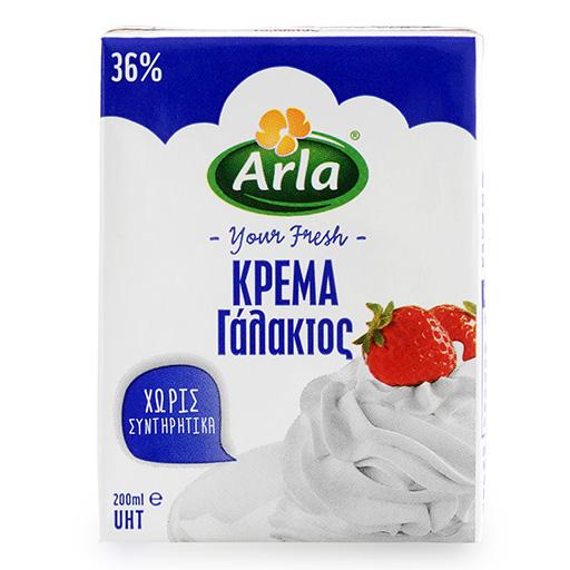 Arla Κρέμα Γάλακτος 36% 200ml.
