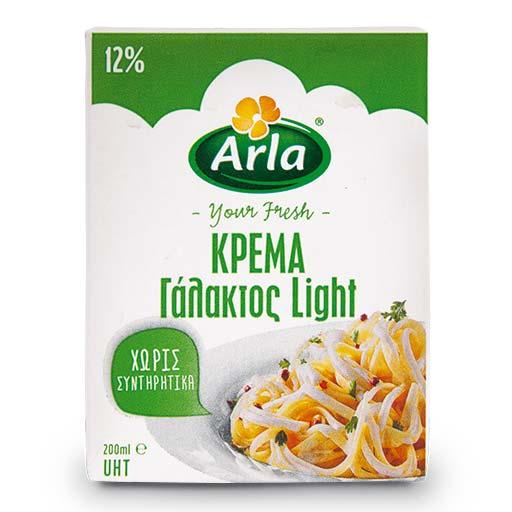 Arla Κρέμα Γάλακτος Light 12% 200ml.