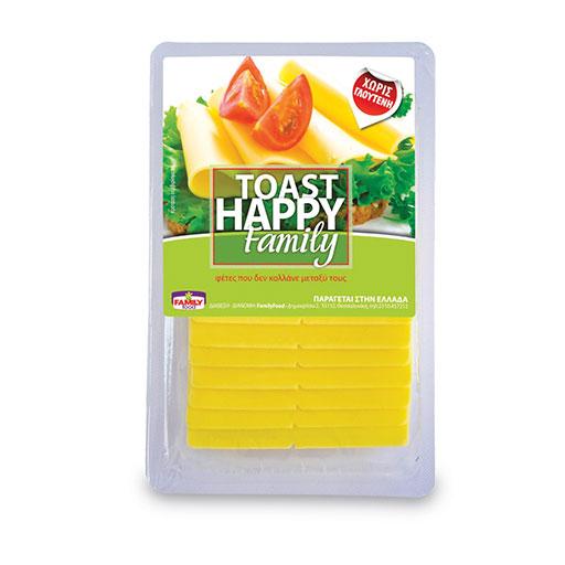 Happy Family Toast Με Φυτικά Λιπαρά 200γρ.