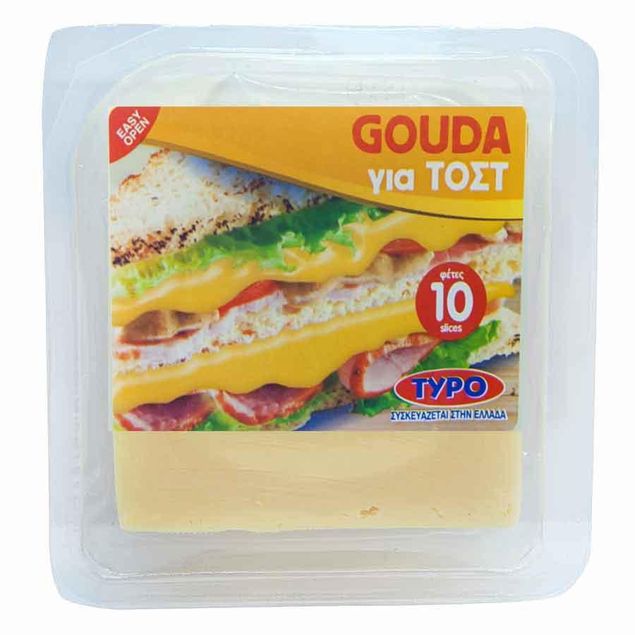 Τυποποιητική Τυρί Gouda Σε Φέτες 180γρ.