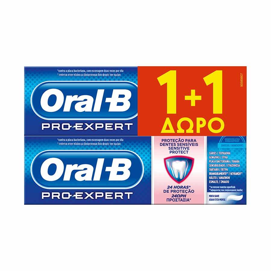 Oral-B Pro-Expert Sensitive Protect Οδοντόκρεμα 75ml. 1+1Δώρο