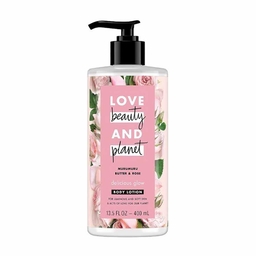 Love Beauty And Planet Body Lotion Με Βούτυρο Murumuru & Ροζ Τριαντάφυλλο 400ml.