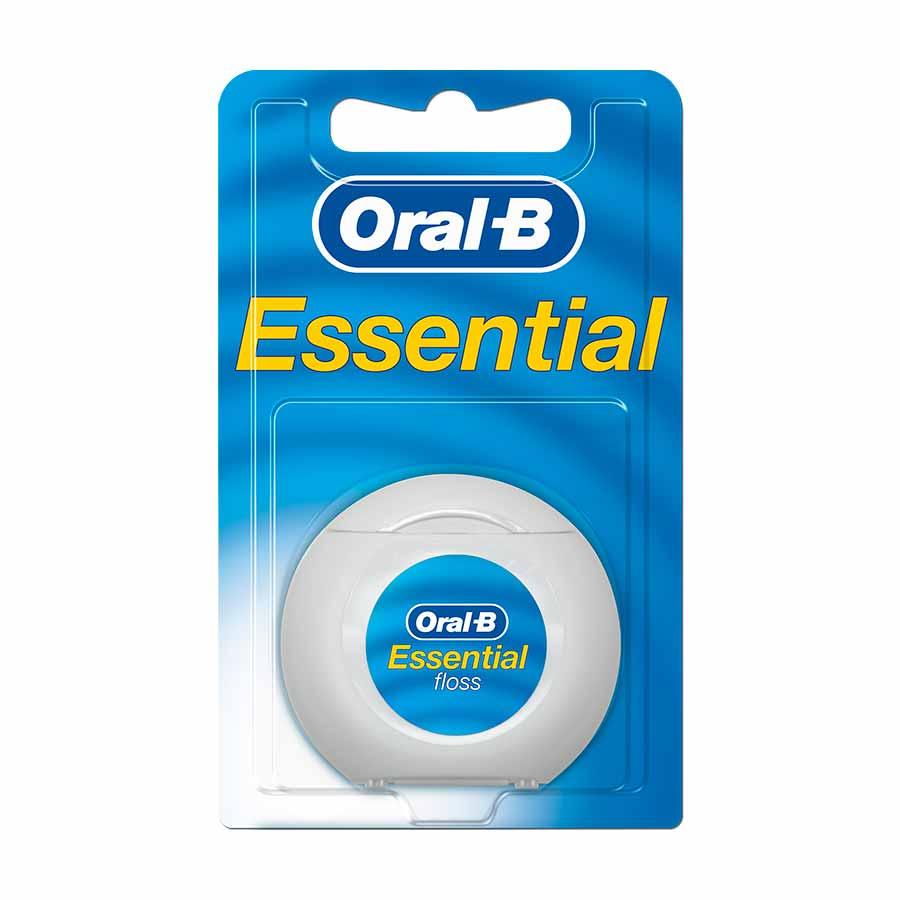 Oral-B Essential Floss Κηρωμένο Οδοντικό Νήμα 50m.