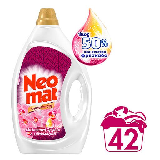 Neomat Υγρό Aromatherapy Μαλαισιανή Ορχιδέα & Σανδαλόξυλο 42mez. 2,1lt.
