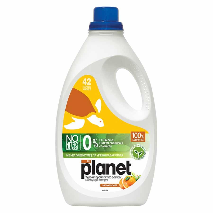 Planet Υγρό Πλυντηρίου Orange Garden 42mez. 2,1lt.